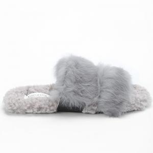 Открытые Toe Faux Fur Outdoor Slippers -