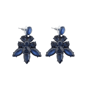 Faux Crystal Leaf Vintage Earrings -