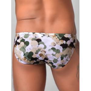 Colorful Ball Print Low Rise Briefs -