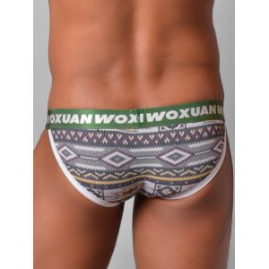 Tribal Print Edging U Pouch Briefs -