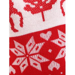 Christmas Snowflake Elk Jacquard Plus Size Sweater -