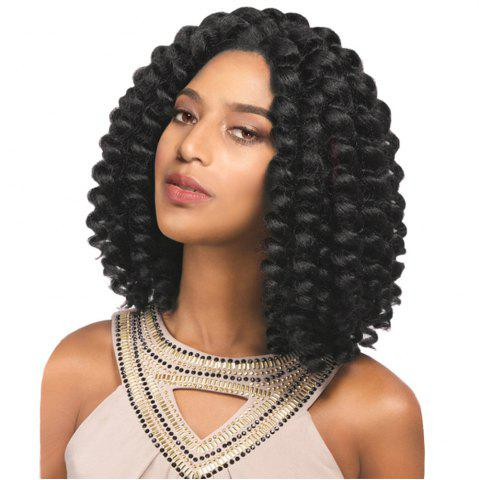 Outfit Medium Side Bang Twist Jumbo Braids Synthetic Wig