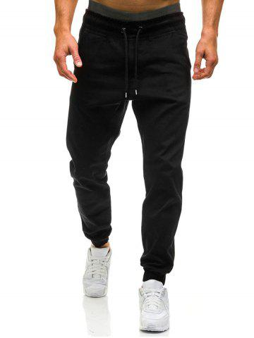 Fashion Beam Feet Drawstring Waist Jogger Pants
