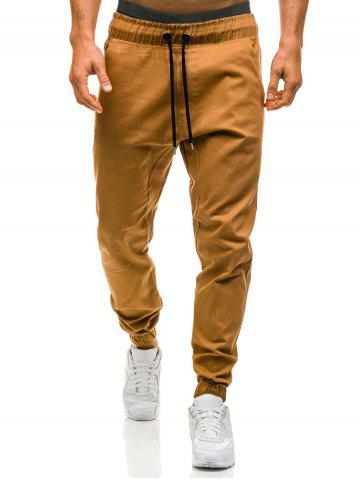 Unique Beam Feet Drawstring Waist Jogger Pants