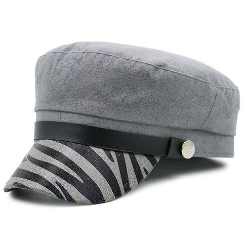 Sale Zebra Stripes Pattern Decorated Military Hat