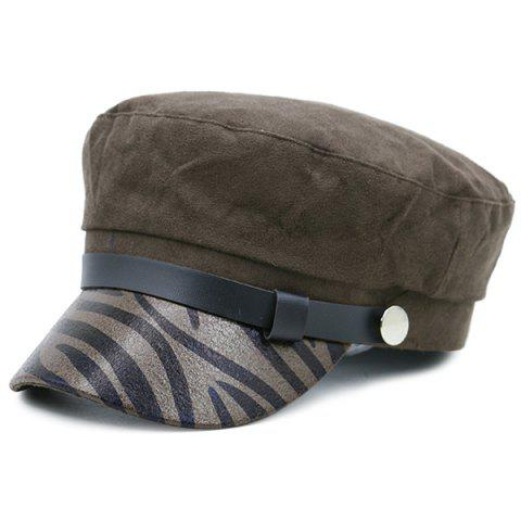 Trendy Zebra Stripes Pattern Decorated Military Hat