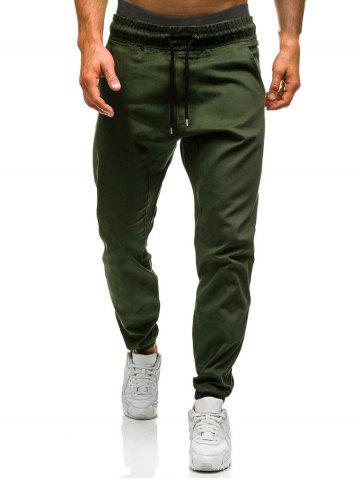 Hot Beam Feet Drawstring Waist Jogger Pants