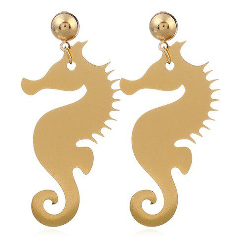 Trendy Metal Hippocampus Earrings