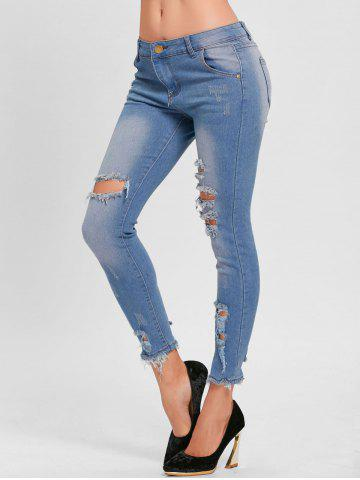 Fashion Distressed Skinny Ripped Jeans