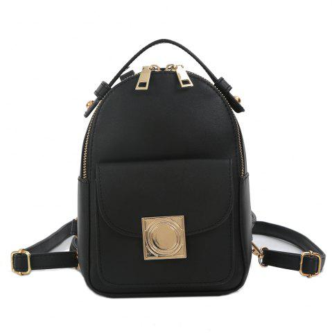 Trendy Faux Leather Metal Embellished Backpack