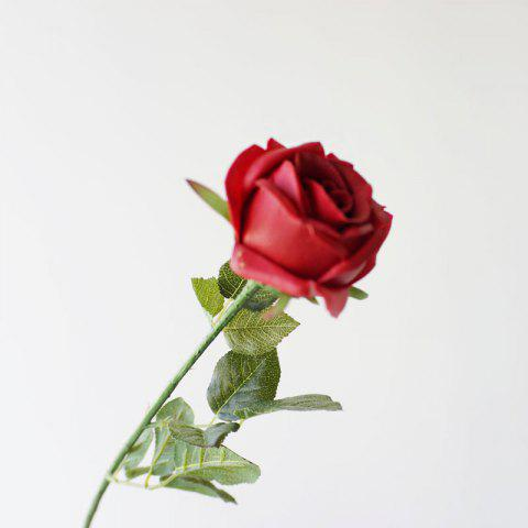 Shop 1 Pcs Valentine Day Gift PU Artificial Rose Flower