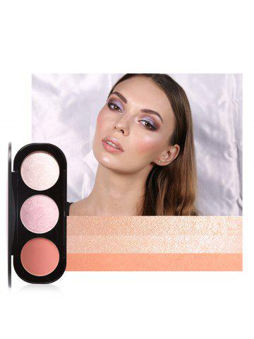 New Multifunctional 3 Colors Highlight and Blush Travel Makeup Kit