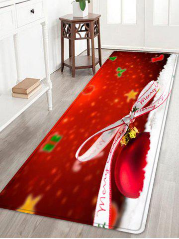 Cheap Christmas Bowknot Ball Pattern Anti-skid Water Absorption Area Rug