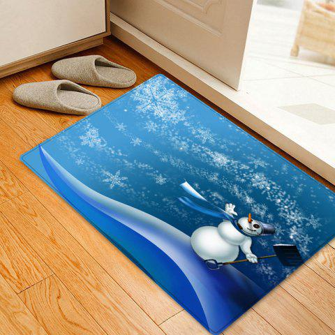 New Christmas Snowman Snowflakes Pattern Anti-skid Water Absorption Area Rug