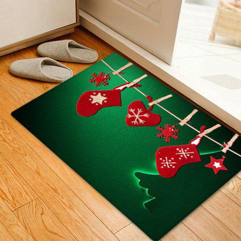 Discount Christmas Hanging Socks Pattern Anti-skid Water Absorption Area Rug