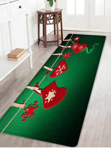 Outfit Christmas Hanging Socks Pattern Anti-skid Water Absorption Area Rug