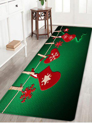 Outfits Christmas Hanging Socks Pattern Anti-skid Water Absorption Area Rug