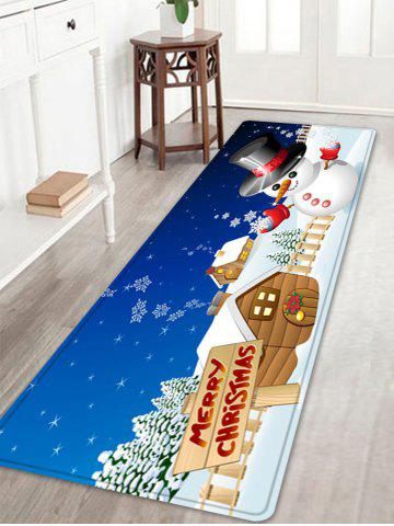 Outfits Christmas Snowman House Pattern Anti-skid Water Absorption Area Rug