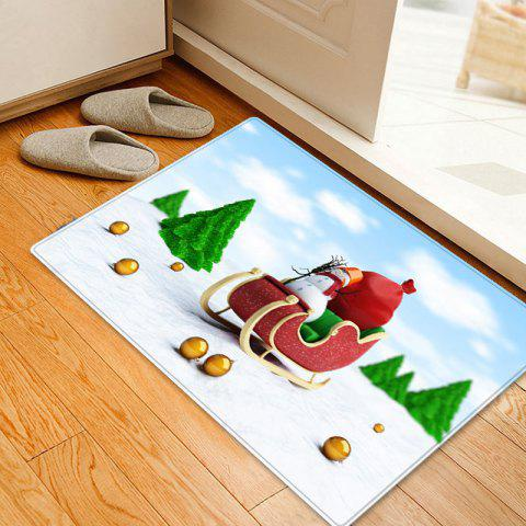 Chic Christmas Trees Sleigh Pattern Anti-skid Water Absorption Area Rug