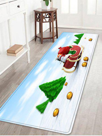 Cheap Christmas Trees Sleigh Pattern Anti-skid Water Absorption Area Rug