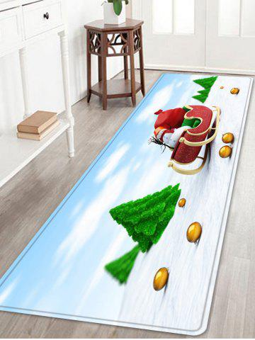 Latest Christmas Trees Sleigh Pattern Anti-skid Water Absorption Area Rug