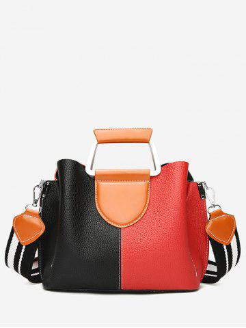 Cheap Stitching Faux Leather Contrasting Color Handbag