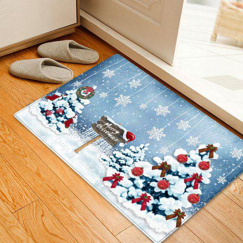 Outfit Christmas Trees Snowflakes Pattern Anti-skid Water Absorption Area Rug