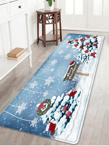 Buy Christmas Trees Snowflakes Pattern Anti-skid Water Absorption Area Rug
