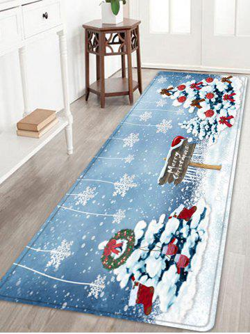 Cheap Christmas Trees Snowflakes Pattern Anti-skid Water Absorption Area Rug