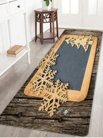Buy Christmas Woodgrain Tree Pattern Anti-skid Water Absorption Area Rug
