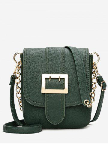 New Chain Faux Leather Buckle Strap Crossbody Bag