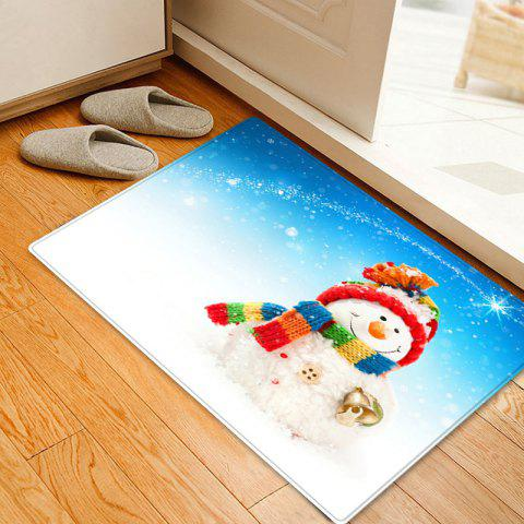 Sale Christmas Snowman Bell Pattern Anti-skid Water Absorption Area Rug