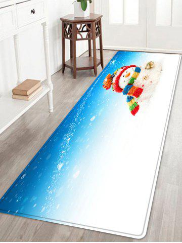Store Christmas Snowman Bell Pattern Anti-skid Water Absorption Area Rug