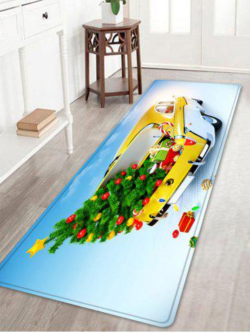 Outfit Christmas Tree In Car Pattern Anti-skid Water Absorption Area Rug