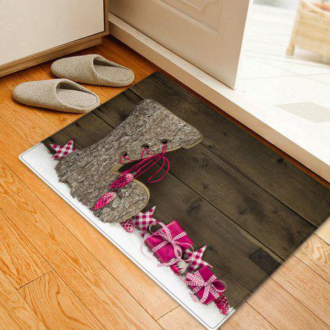 Online Christmas Wood Shoe Pattern Anti-skid Water Absorption Area Rug