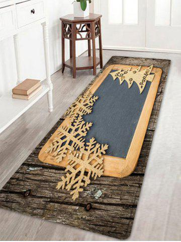 Outfits Christmas Woodgrain Tree Pattern Anti-skid Water Absorption Area Rug