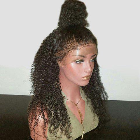 Unique Long Free Part Shaggy Kinky Curly Synthetic Lace Front Wig
