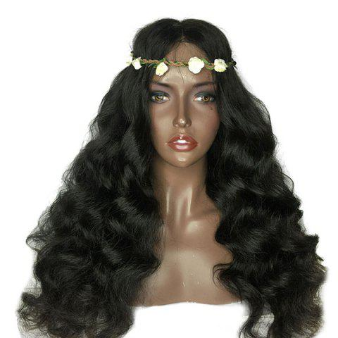 Unique Lace Front Shaggy Middle Part Long Loose Wave Synthetic Wig