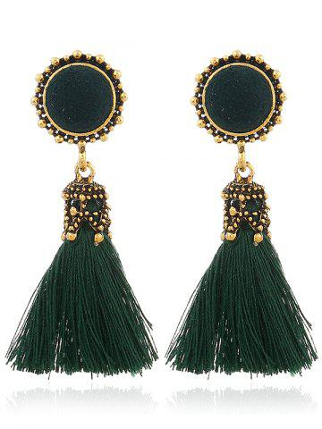 Latest Vintage Tassel Pompon Drop Earrings