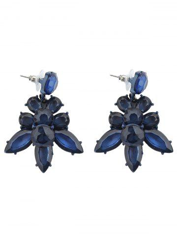Discount Faux Crystal Leaf Vintage Earrings