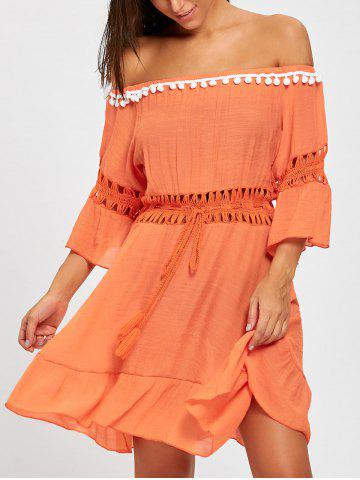 Affordable Flounce Off Shoulder Cover-up Dress