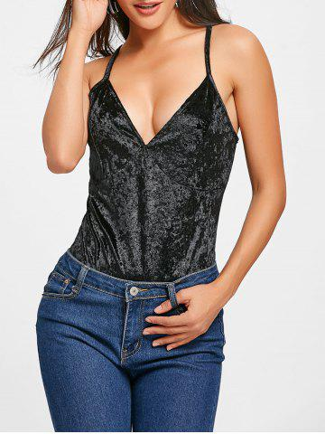 Latest Cami Strap Velvet Bodysuit