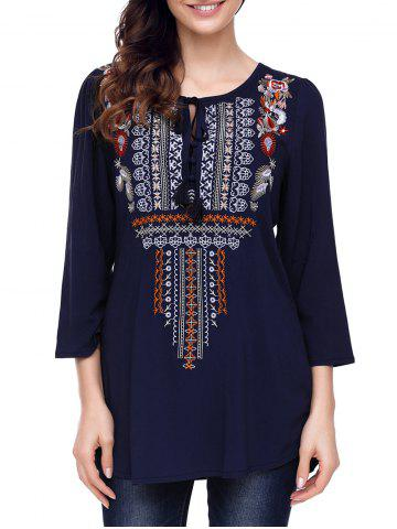 Online Ethnic Embroidery Tunic Blouse