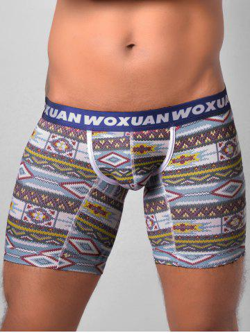 Affordable Tribal Print U Contour Pouch Boxer Briefs