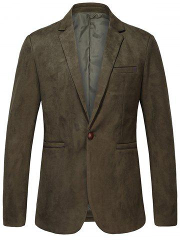 Lapel One Button Vintage - Blazer en daim