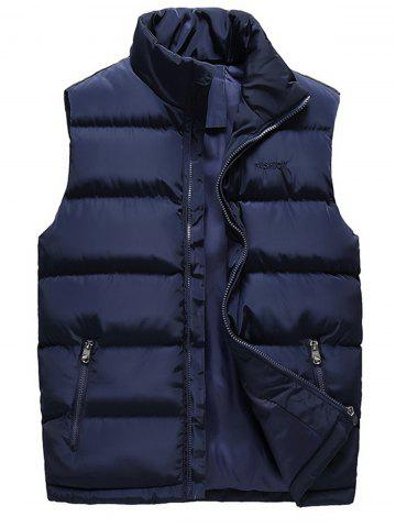 Embroidered Zip Up Padded Waistcoat
