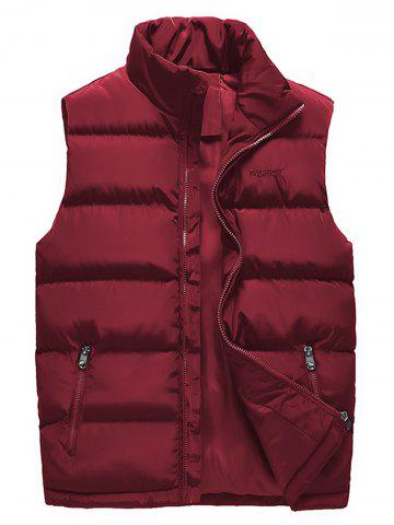 Buy Embroidered Zip Up Padded Waistcoat