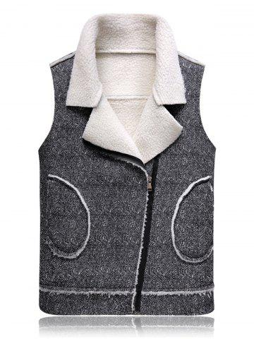 Buy Oblique Zip Up Fleece Waistcoat