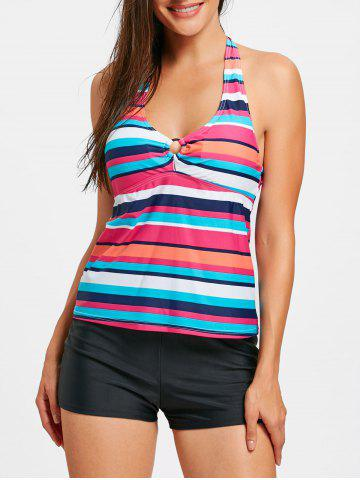 Best Striped Halter Neck Tankini Set