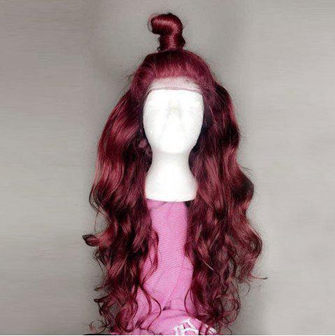 Discount Long Free Part Fluffy Body Wave Lace Front Synthetic Wig